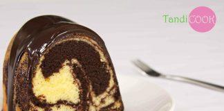 Мармуровий рулет з шоколадно-банановим кремом