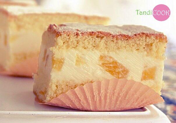 Торт з ніжним сирним кремом
