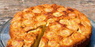 Яблучно-банановий пиріг