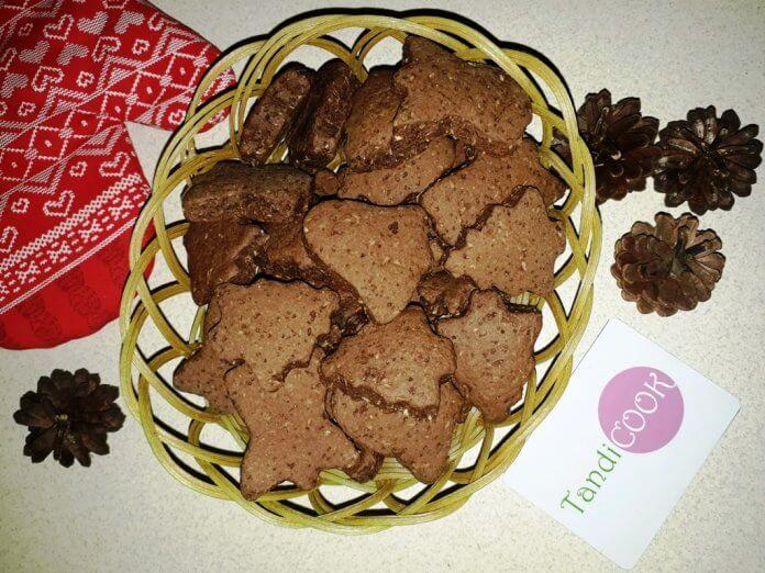 Шоколадне печиво з корицею