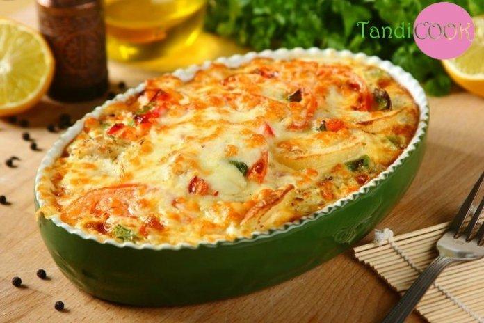 Пісні страви у піст: картопляна запіканка з грибами і помідорами