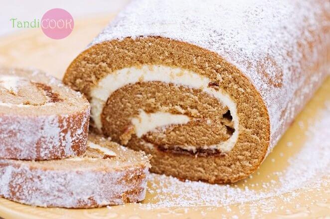 Рулетні тістечка з кавовим кремом